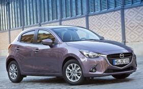 Обои фото, Mazda, Автомобиль, 2014, Металлик, Mazda 2