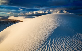 Картинка New Mexico, White Sands National Monument, Blue Dunes
