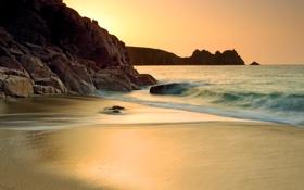 Картинка море, пляж, золото