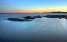 Обои камни, океан, пейзажи, вода, гладь, море