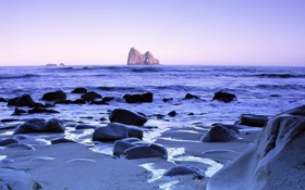 Обои камни, красоты, пейзаж, волны, цвета, море, побережье