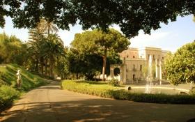 Обои замок, сад, Италия, архитектура, дворец, экстерьер