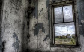 Обои окно, вид, комната