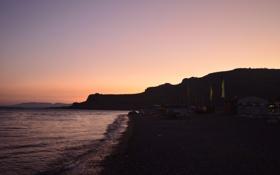 Обои пляж, лето, горы, Море