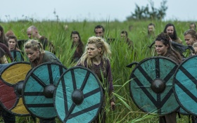 Обои воины, Vikings, Викинги, Katheryn Winnick, Lagertha