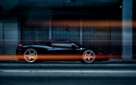 Картинка чёрная, Ferrari, феррари, black, 458, италия, Italia