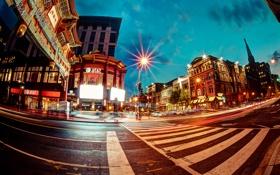 Обои Washington, Chinatown, Вашингтон, переход, дорога