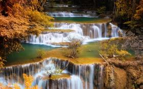 Обои природа, река, Тайланд, водопады, asia, Kanchanaburi, Si Sawat