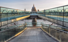 Картинка London, Millennium Bridge, St Paul cathedral