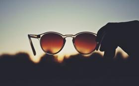 Картинка стекло, вечер, очки