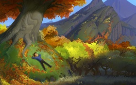Картинка осень, листва, Fall