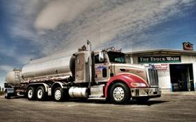 Обои мощь, грузовик, тягач, Peterbilt