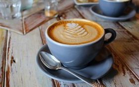 Картинка любовь, сердце, кофе, молоко, чашка, love, heart