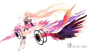Обои девушка, крылья, аниме, арт, vocaloid, hanyijie