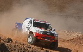 Картинка Спорт, Гонка, Toyota, Hilux, Rally, Dakar, Ралли