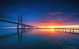 Обои небо, Португалия, мосты