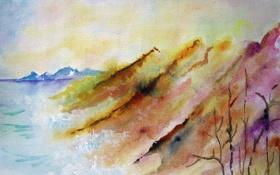 Картинка акварель, пейзаж, картина