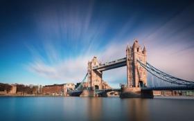 Обои облака, река, Лондон, небо, мост, Темза