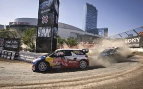 Обои Ford, поворот, Citroen, Спорт, Rally, Занос, Fiesta