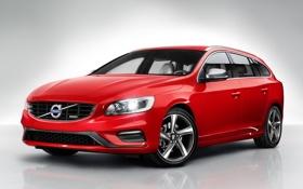 Обои авто, Volvo, вид спереди, вольво, V60, R-design