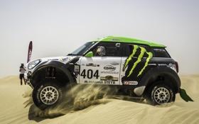 Обои Песок, Mini, Mini Cooper, 404, Dakar, Внедорожник, Ралли