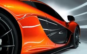 Обои Concept, McLaren, Авто, Машина, Оранжевый, Корпус, Двери