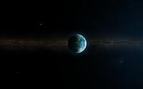 Обои звезды, комета, скопление, звездное