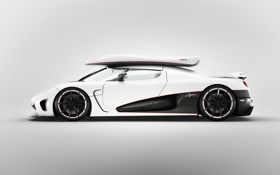 Картинка agera r, спорткар, автомобиль, белый, koenigsegg