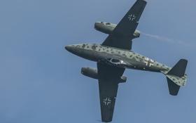 Обои полет, истребитель, бомбардировщик, реактивный, Me-262A
