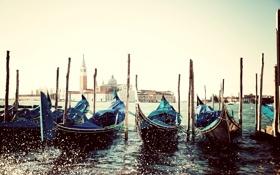 Картинка Italy, Венеция, вода, море, Сан-Джорджо Маджоре, брызги, San Giorgio Maggiore