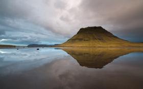 Картинка гора, вулкан, Исландия, Скандинавия, Kirkjufell