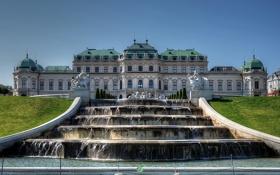 Картинка Австрия, фонтан, дворец, скульптуры, Austria, Вена, Vienna