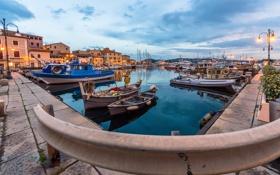 Картинка яхты, лодки, Италия, катера, набережная, Italy, гавань