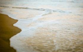 Картинка море, волны, пена, вода, океан, берег, побережье