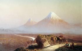 Обои картина, Занковский, Вид на Арарат
