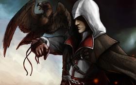 Обои орел, эцио, assassins creed 2, ассасин