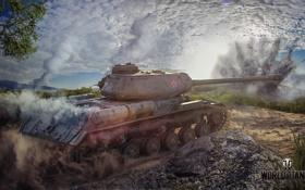 Картинка взрыв, дым, танк, USSR, СССР, танки, WoT