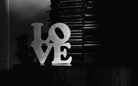 Обои любовь, надпись, настроения, черно-белое, love, диски, mood