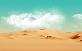 Картинка пустыня, планета, LiverpoolFanAU, Space and Desert