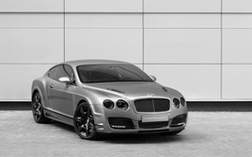 Картинка стена, мощь, Bentley Continental GT Bullet