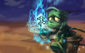 Обои League of Legends, мумия, amumu