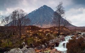 Картинка пейзаж, река, гора