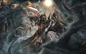Картинка тьма, armor, Diablo 3, crusader