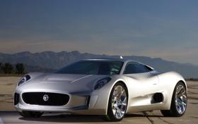 Обои Concept, Jaguar, концепт, ягуар, автомобиль, C-X75