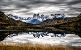 Картинка Chile, Torres del Paine National Park, Los Cuernos