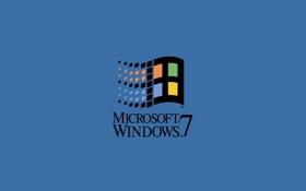 Обои seven, windows, microsoft, logo