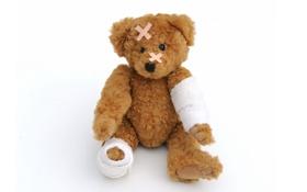 Обои игрушка, медведь, мишка, toy, bear, пластырь, cute