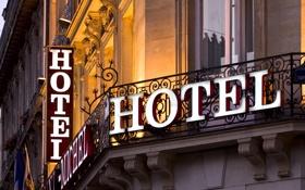 Картинка окно, балкон, Отель, веранда, hotel, window, городских