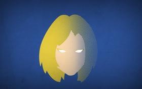 Обои минимализм, Фантастическая четвёрка, blo0p, Fantastic Four, Invisible Woman, невидимая женщина