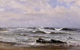 Обои морской пейзаж, Карлос де Хаэс, Прилив, картина
